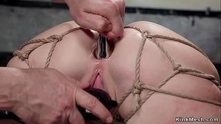 Busty Slave Fucked in Back Arch Bondage