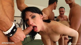 Wendy in Bukkake Oral Sex Blowbang Scene from Cum for Cover